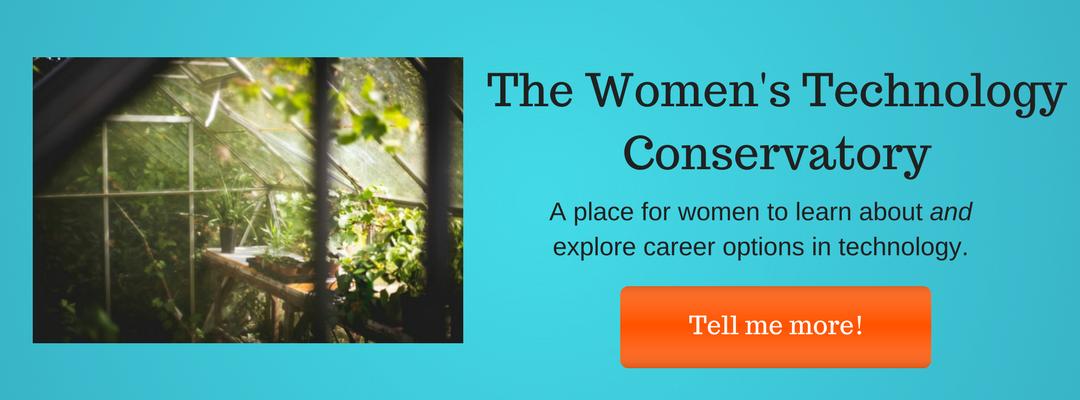 Women's Tech Conservatory Button