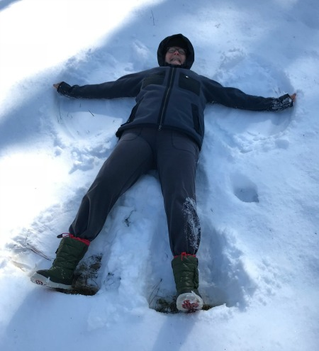 Carpe Diem inspired this snow angel moment