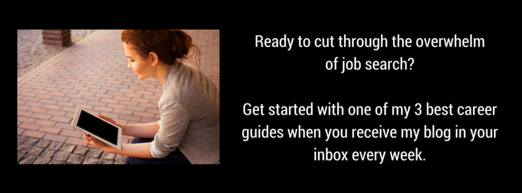 Choose your free tool to help you cut through the overwhelm of job search.