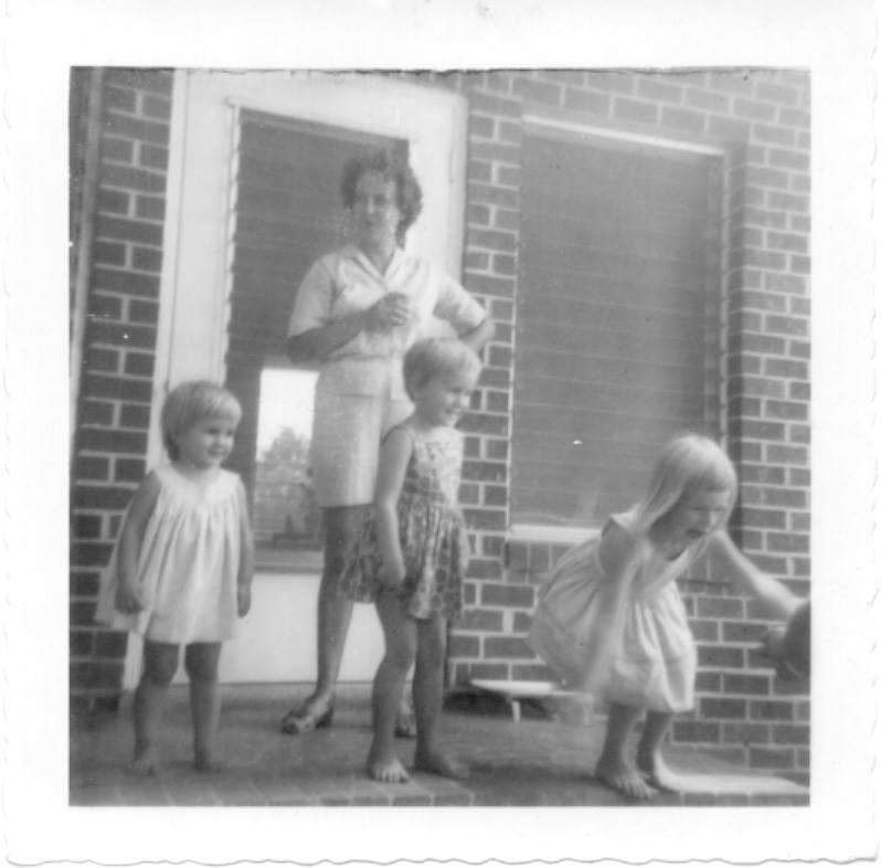 photo of Mom, me, and my 2 sisters.