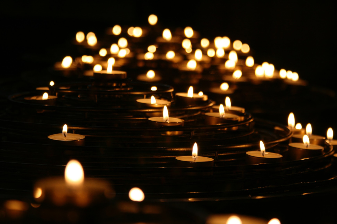 walk with the light of candles